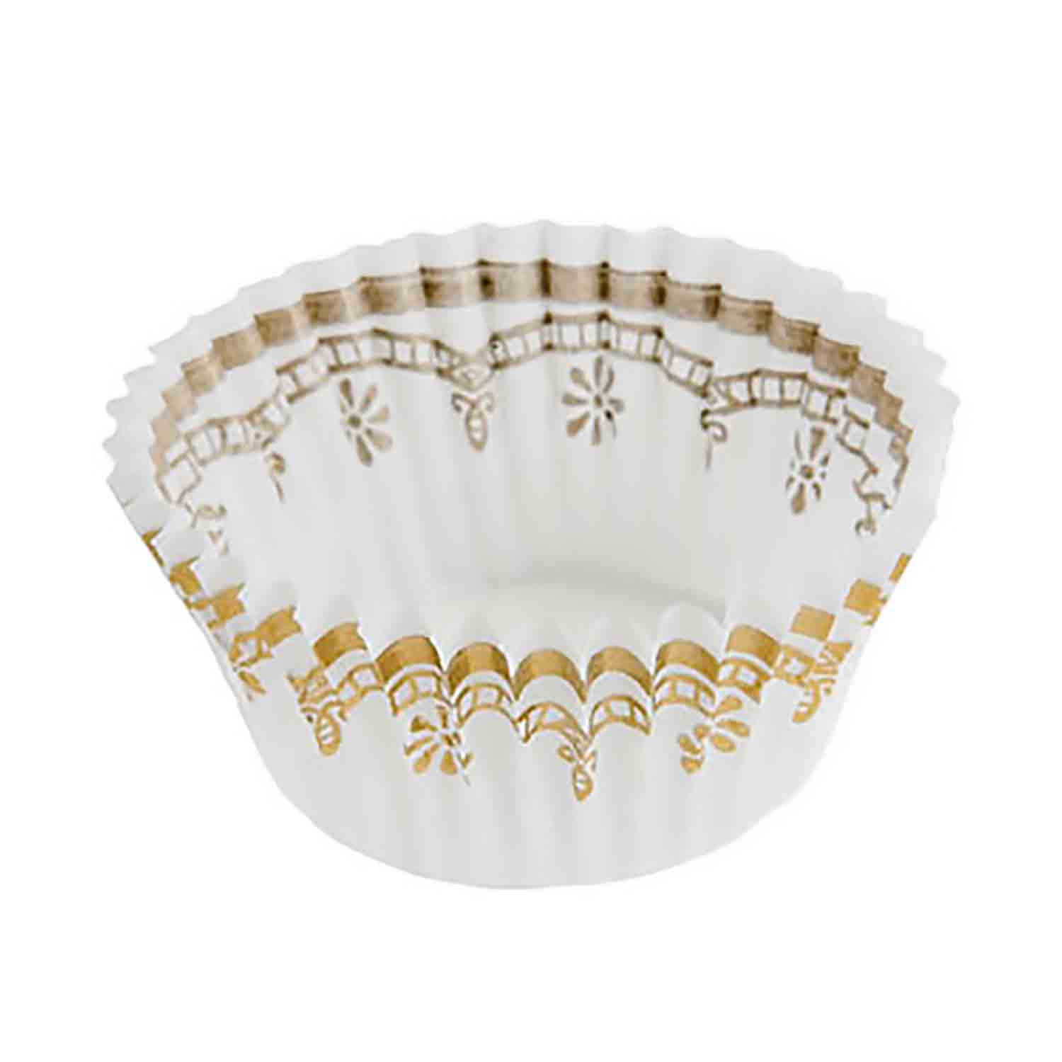 Candy Cup - White with Gold Accents