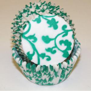 Teal Green Ivy Standard Baking Cups