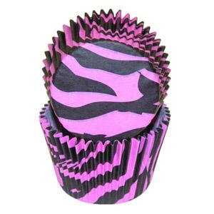 Pink/Black Zebra Standard Baking Cups