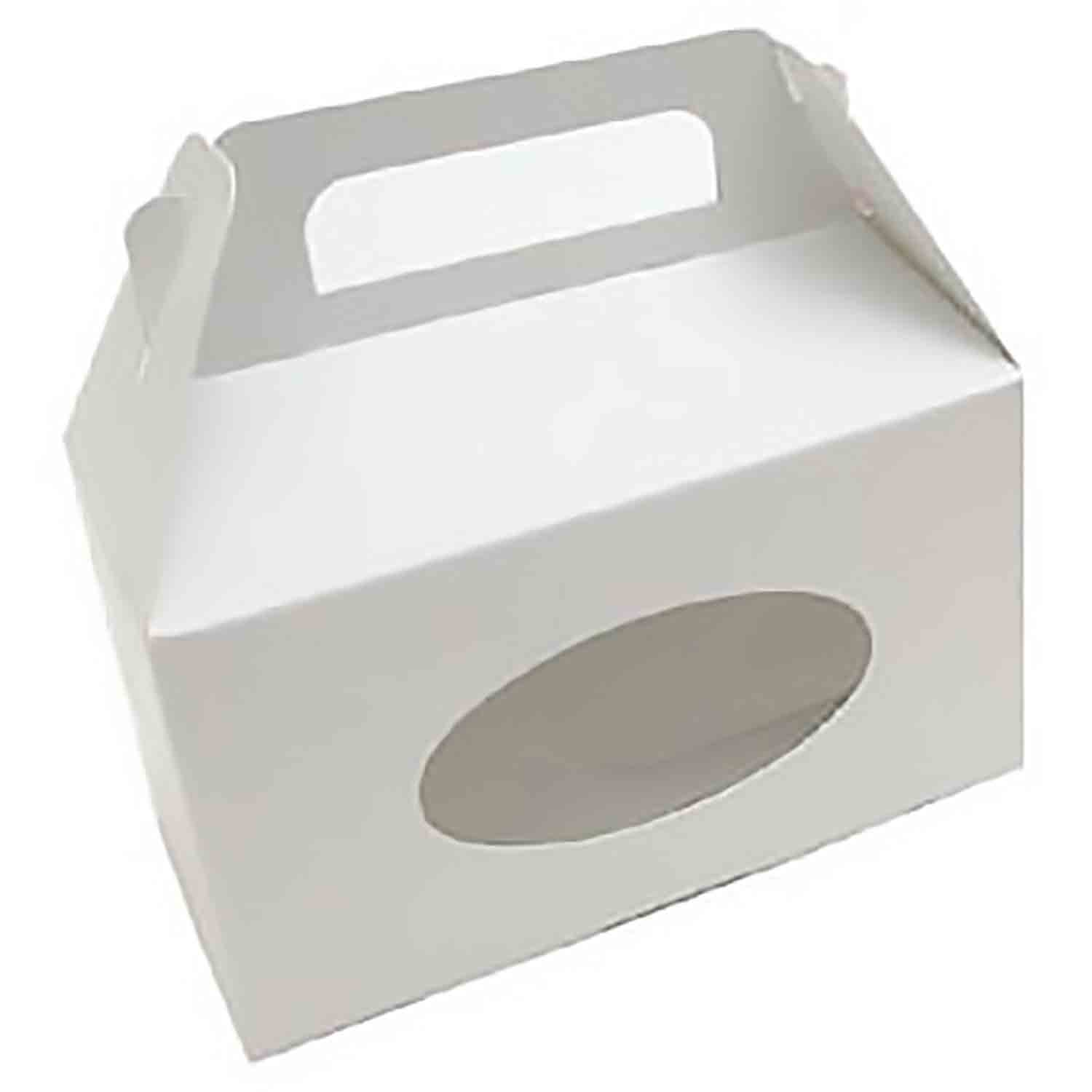1 1/2 lb. White Tote Candy Box with Window