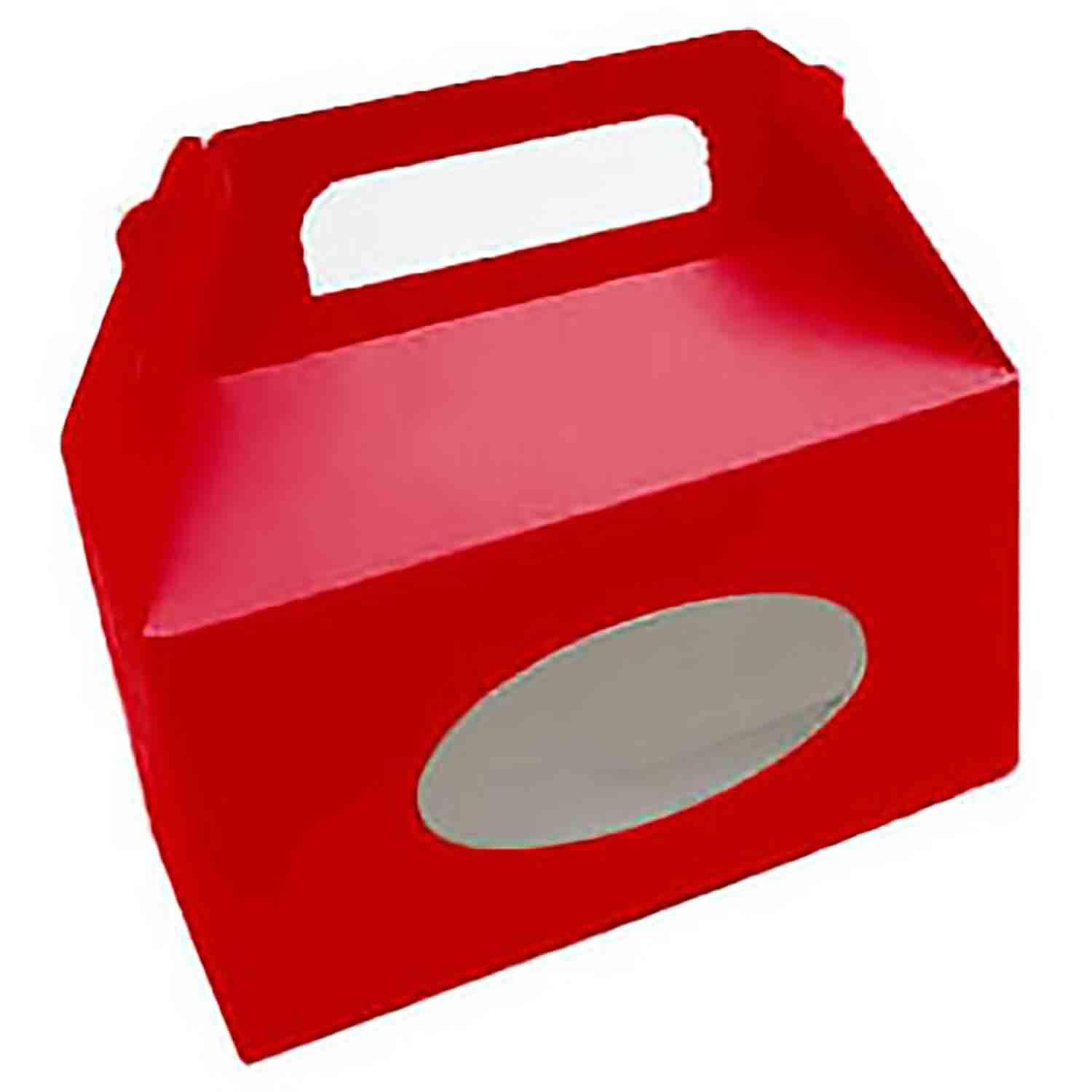 1 1/2 lb. Red Tote Candy Box with Window