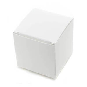 1 Pc. White Small Truffle Candy Box