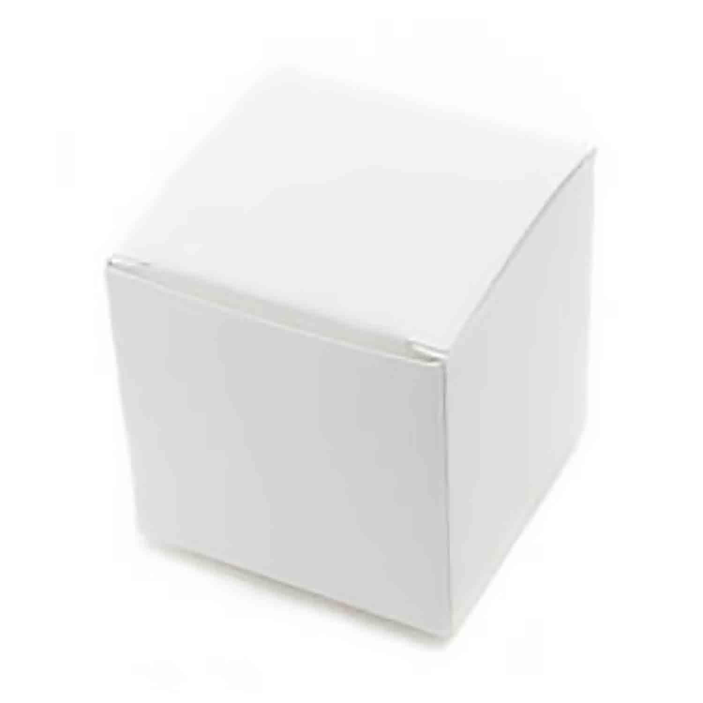 1 Pc. White Medium Truffle Candy Box