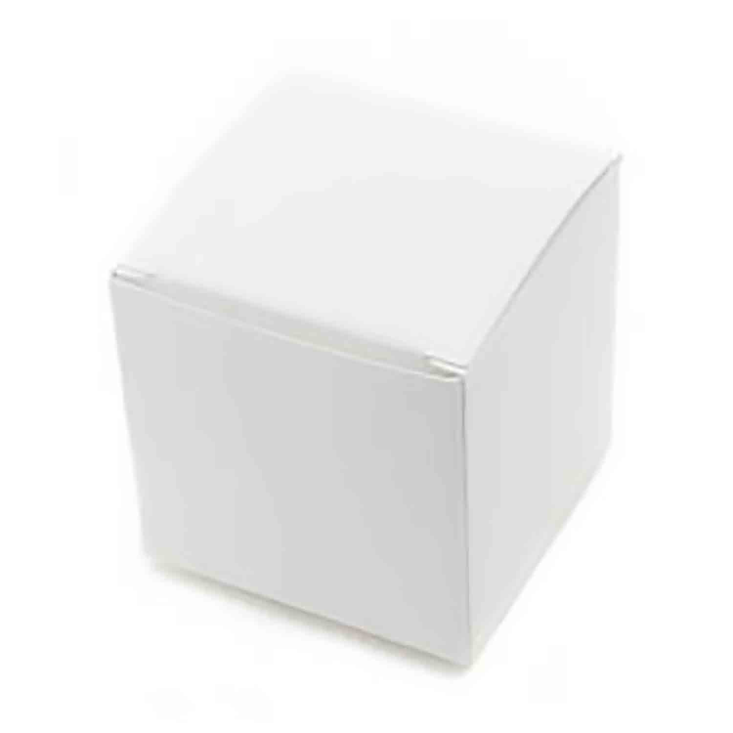 1 Pc. White Medium Truffle Candy Box
