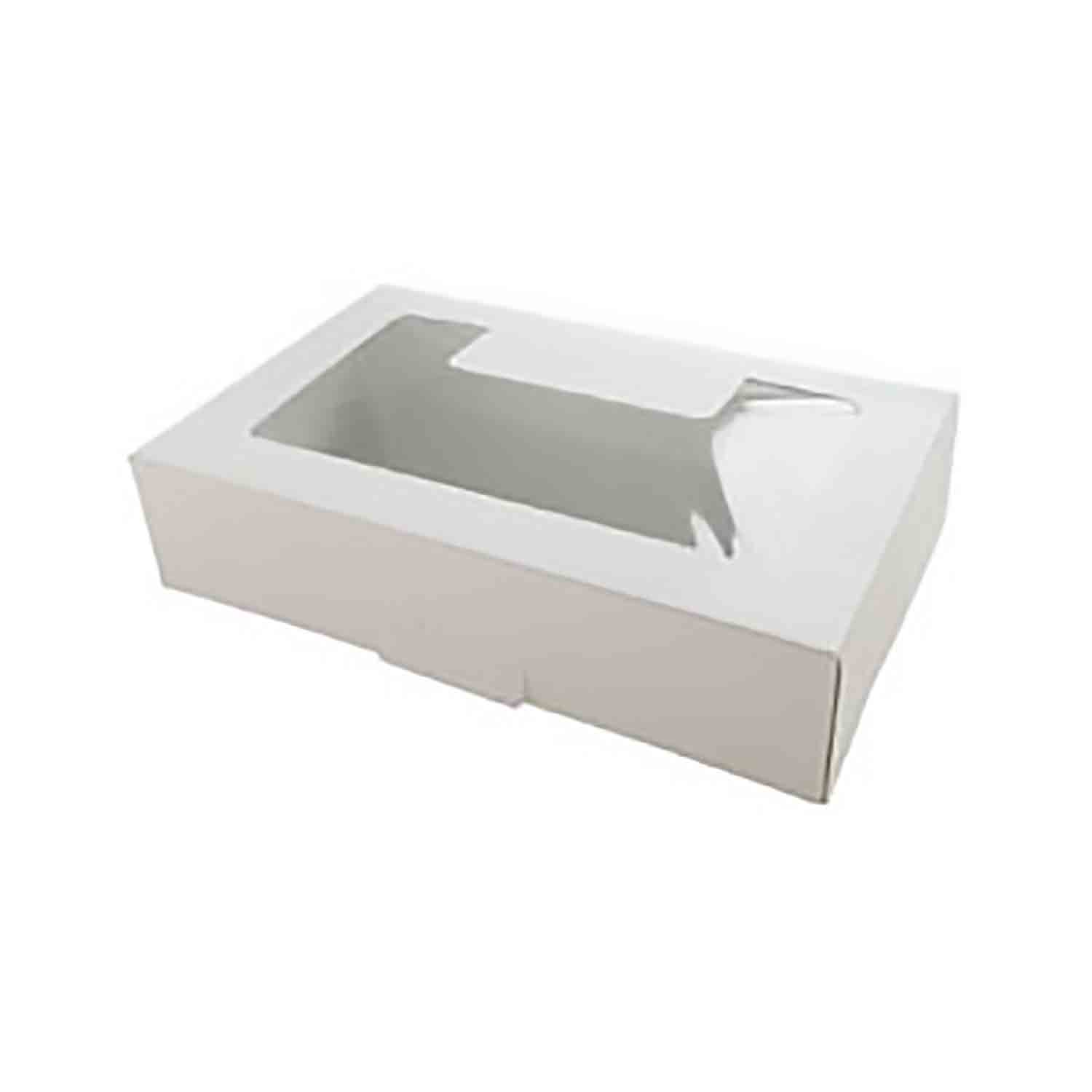 1 lb. White Cookie Box with Window