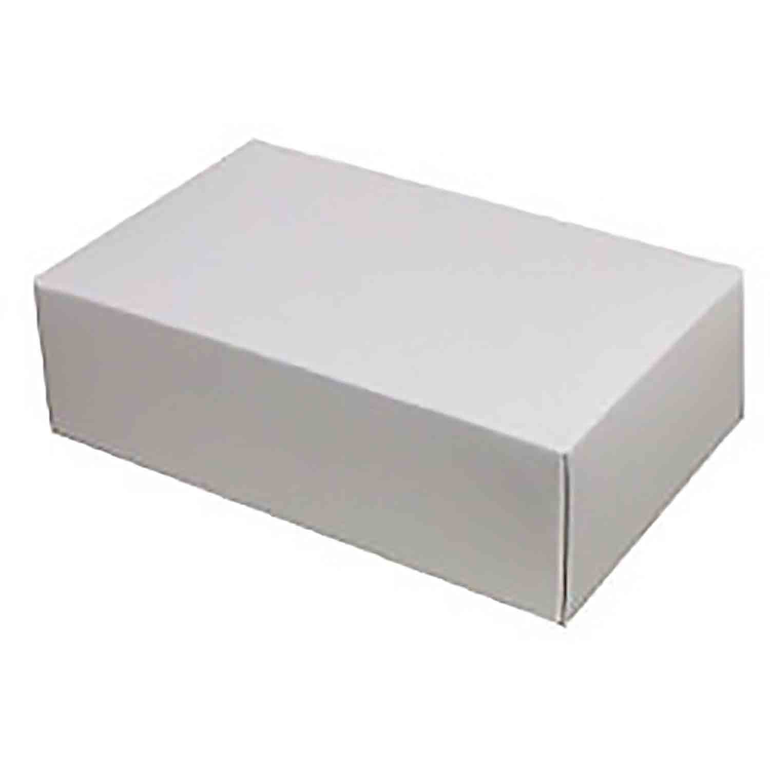 1 lb. White 2-Layer Candy Box