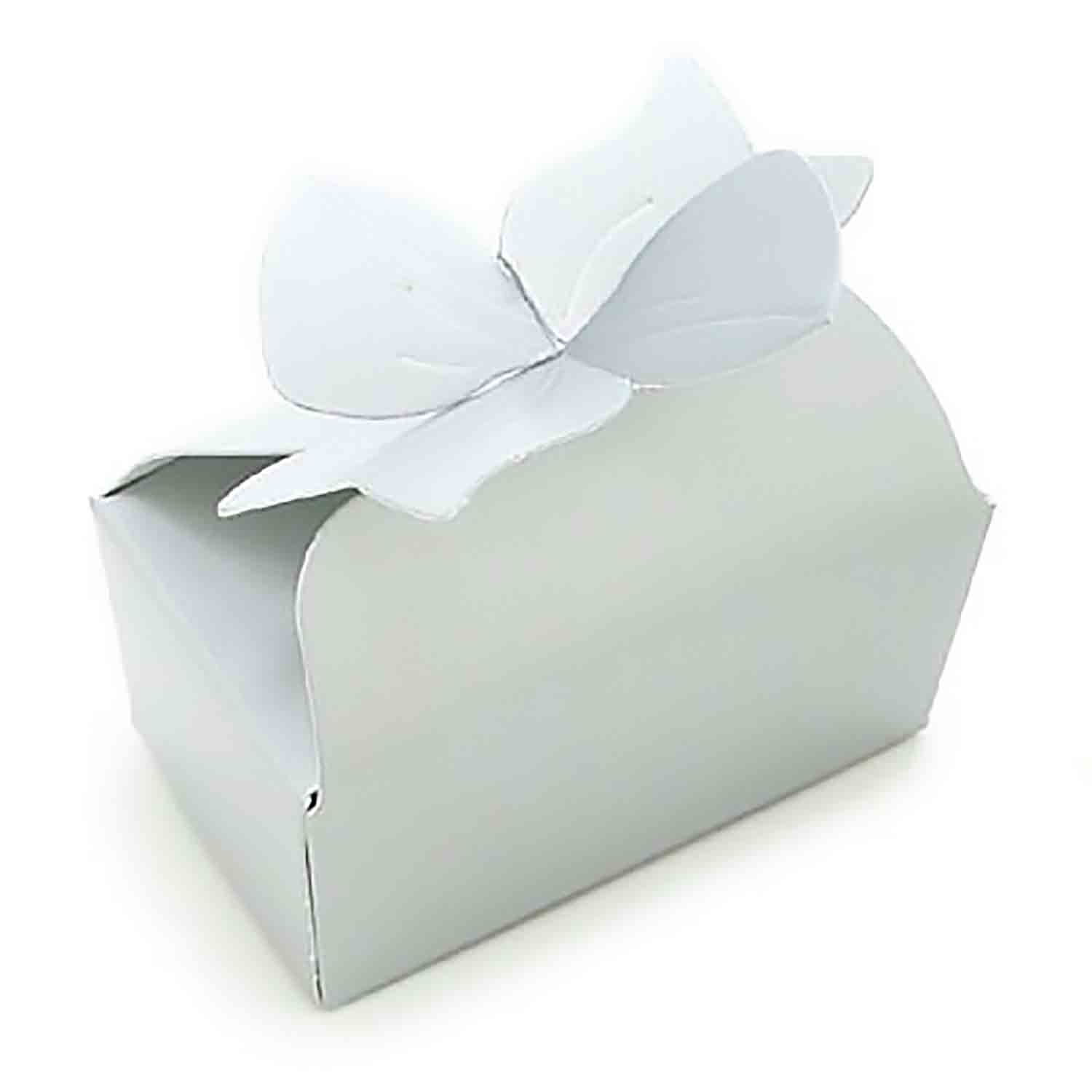 2 Pc. White Bow Candy Box