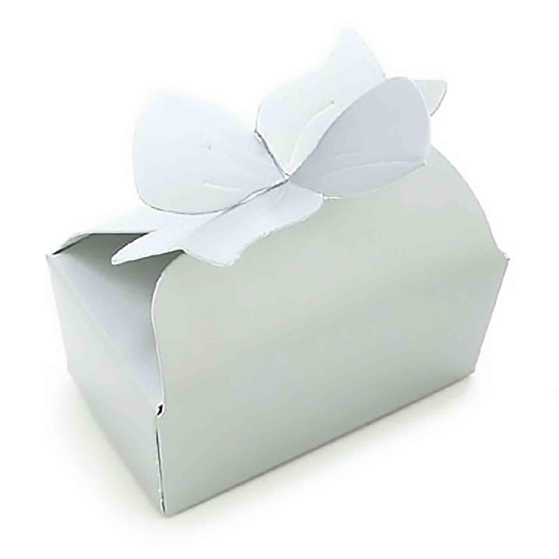2 Pc. White Bow Candy Box