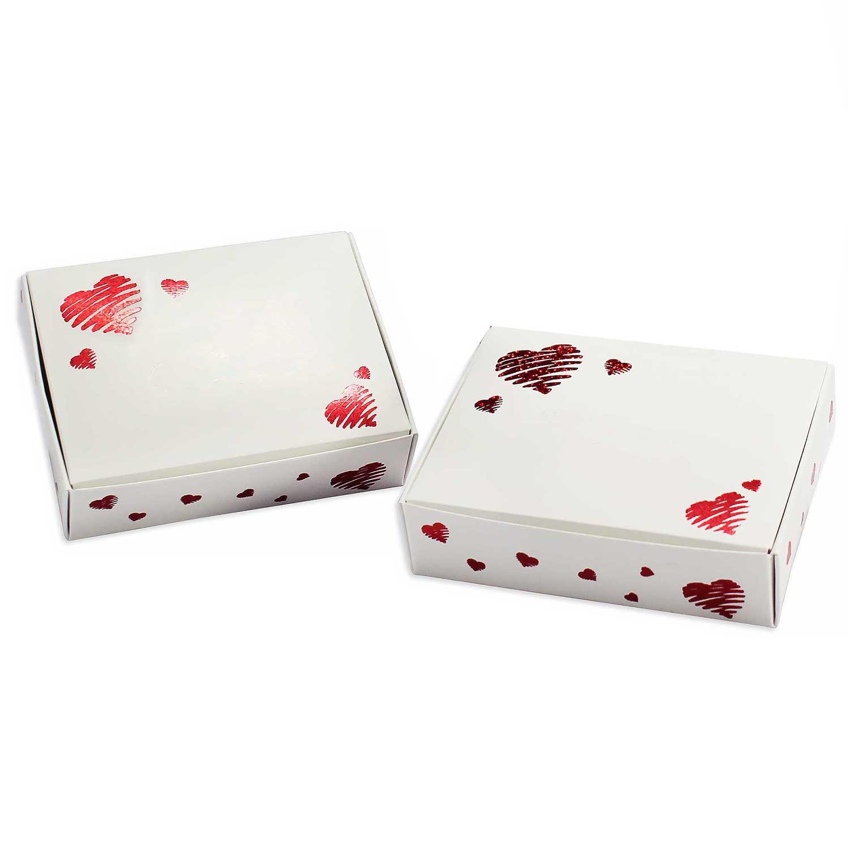 1/4 lb. Heart Print Candy Box
