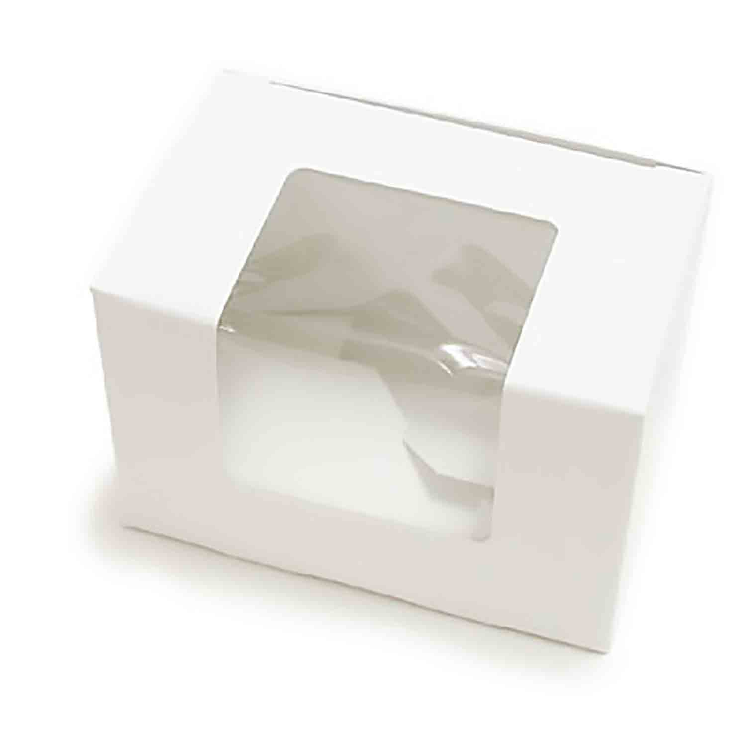 1/2 lb. White Egg Candy Box with Window
