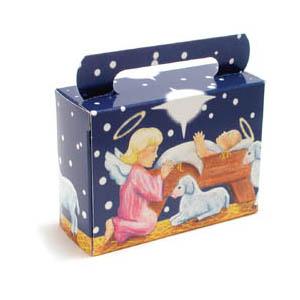 1/4 lb. Nativity Tote Candy Box