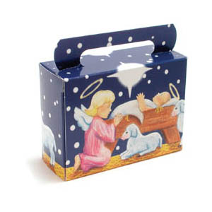 1/4 lb. Nativity Tote Candy Box
