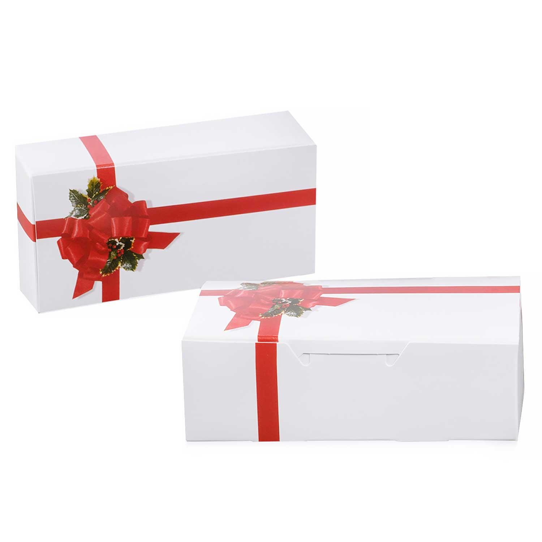 1 lb. Ribbon & Holly Candy Box