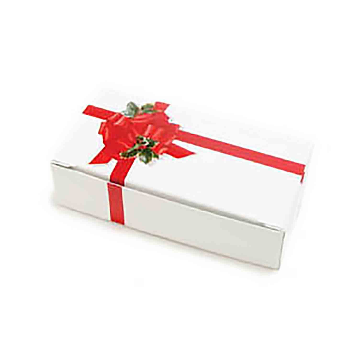1 1/2 lb. Ribbon & Holly Candy Box