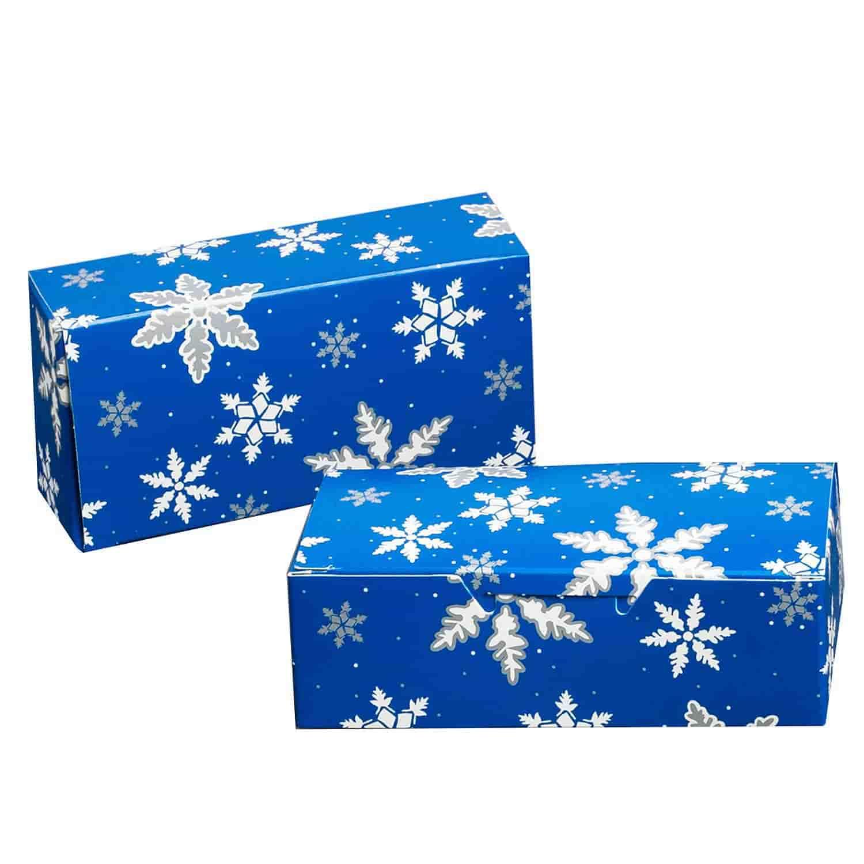 1 lb. Blue Snowflake Candy Box