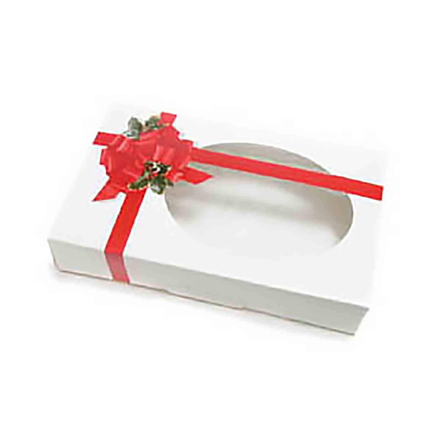 1/2 lb. Ribbon & Holly Cookie Box