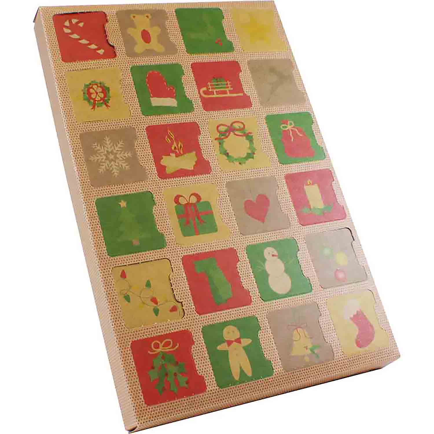 24 Cavity Kraft Advent Calendar Candy Box