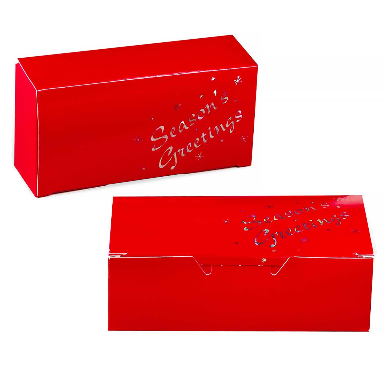 1/2 lb. Red Season's Greetings Candy Box