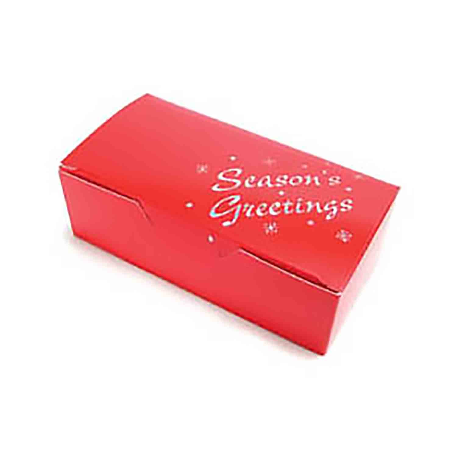 1 1/2 lb. Red Season's Greetings Candy Box