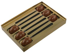 Coffee Spoon Gold Insert Candy Box with Clear Lid