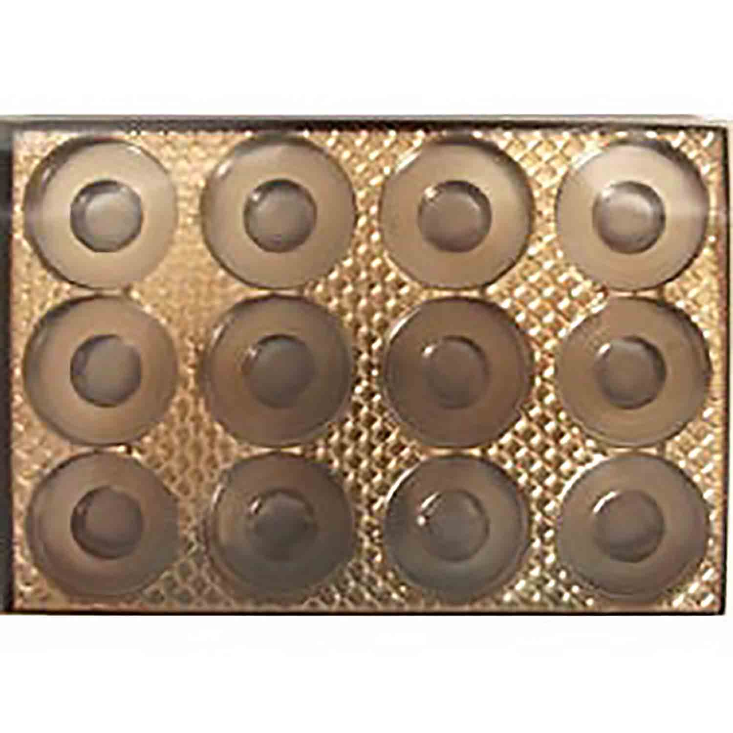 12 Cavity Cookie or Truffle Gold Insert Candy Box with Clear Lid