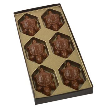 6 Cavity Gold Insert Candy Box with Clear Lid
