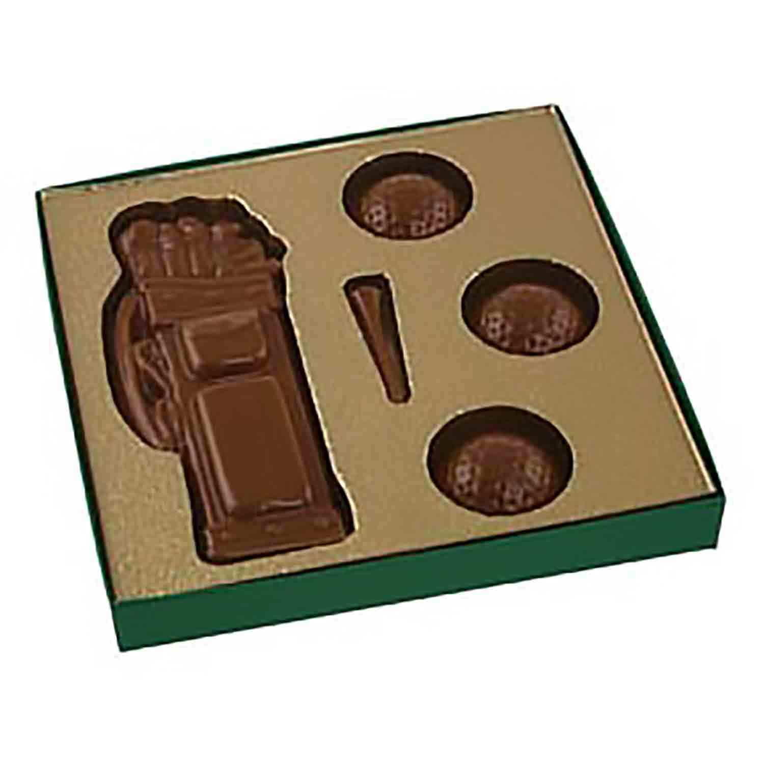 Golf Gold Insert Candy Box with Clear Lid