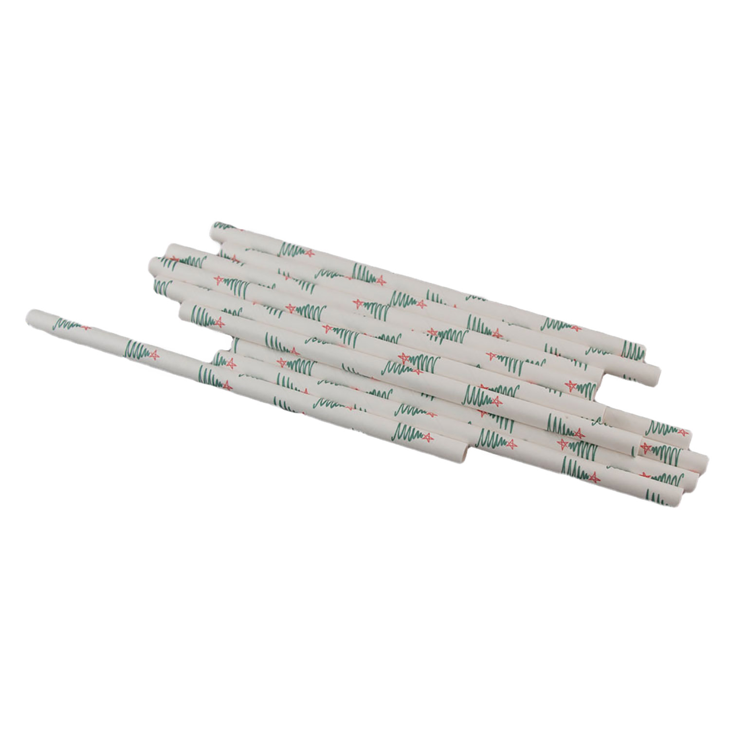 Christmas Tree Paper Straws