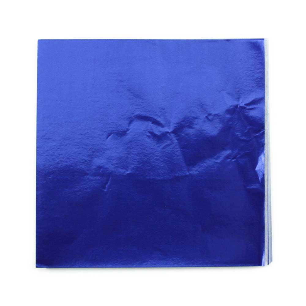 "4 x 4"" Foil Wrapper Dark Blue"