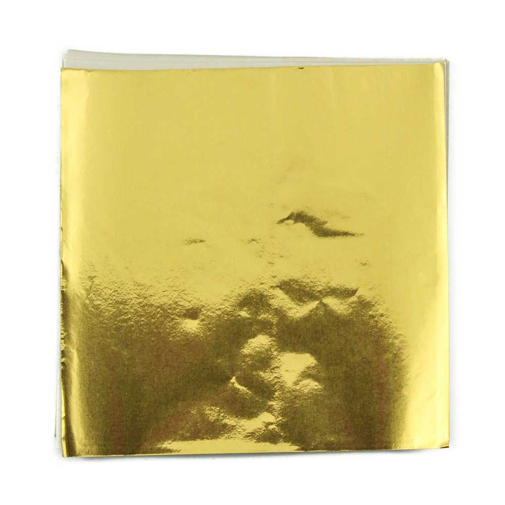 "4 x 4"" Foil Wrapper Gold"