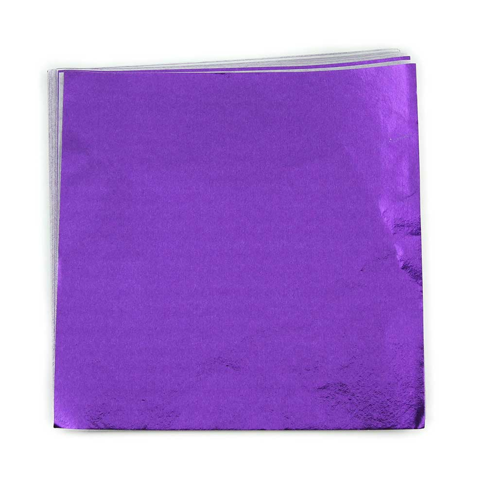"4 x 4"" Foil Wrapper Purple"