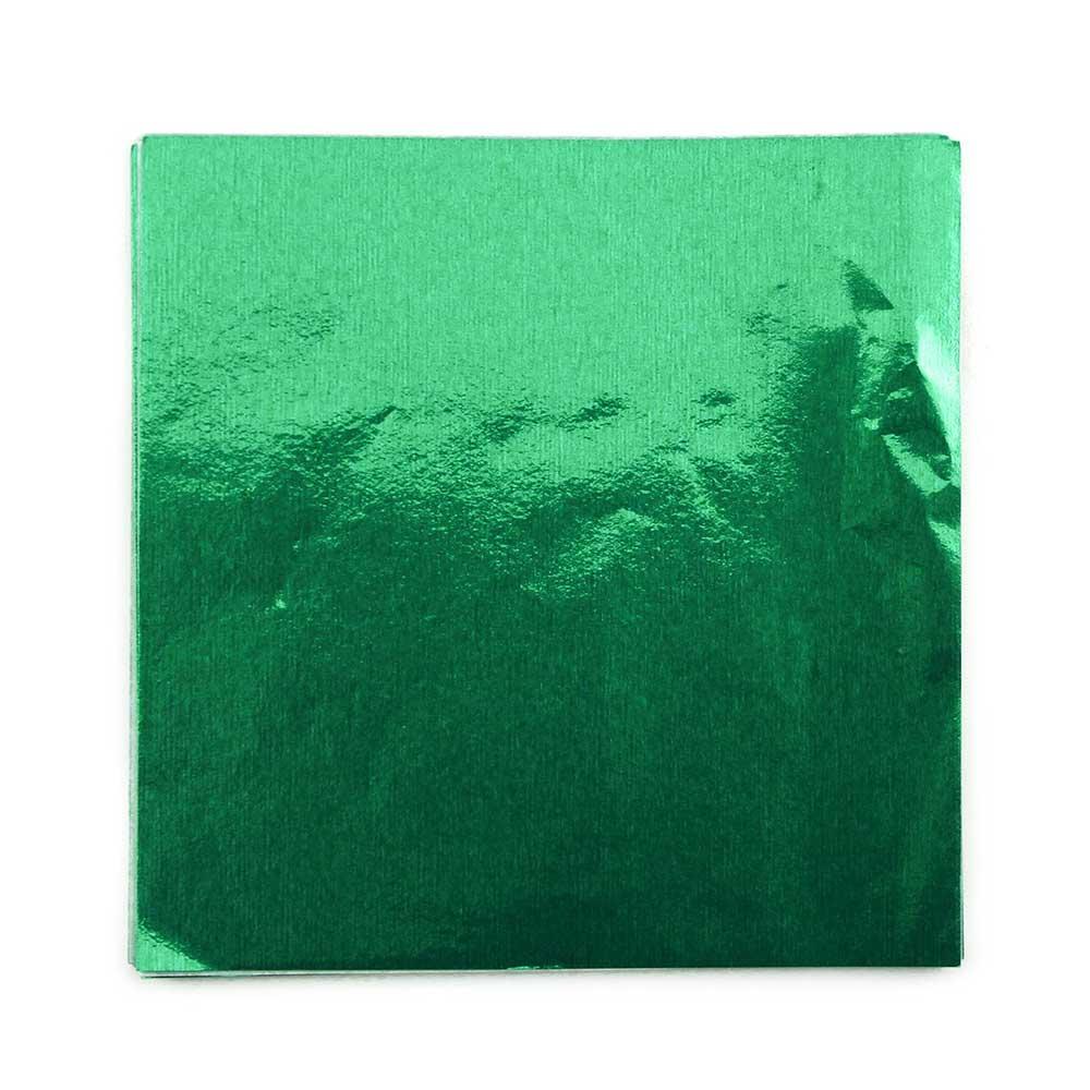 "6 x 6"" Foil Wrapper Green"