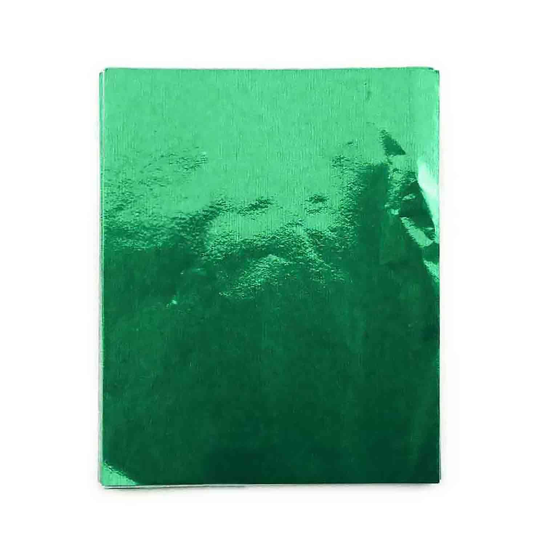 "3 x 4"" Foil Wrapper Green"