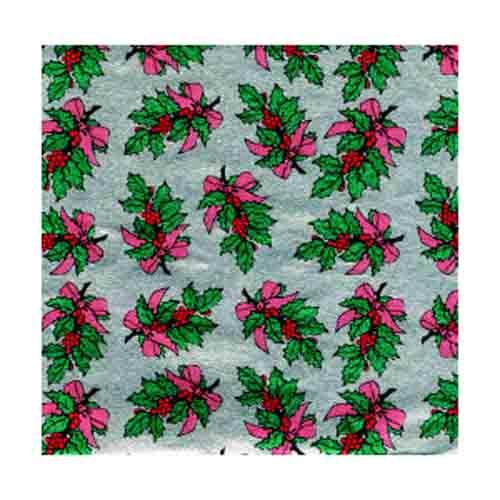 "4 x 4"" Foil Wrapper Holly Bough"