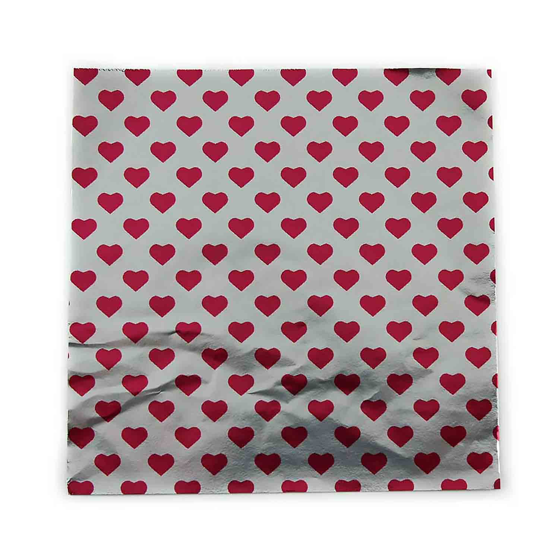 "6 x 6"" Foil Wrapper Heart Print"