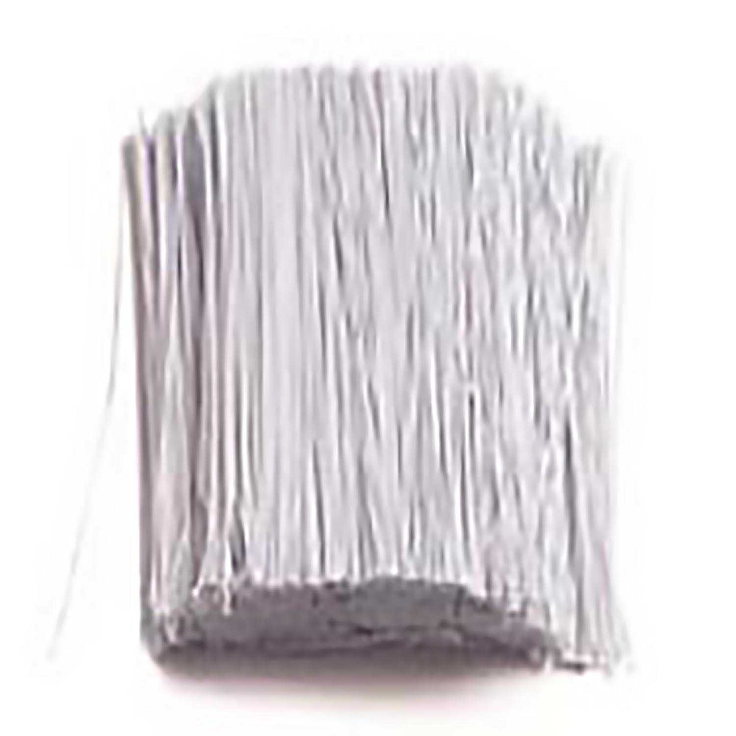 24 Gauge White 6in Covered Wire