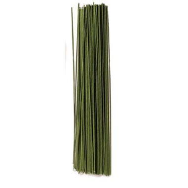 "24 Gauge Green 12"" Covered Wire"