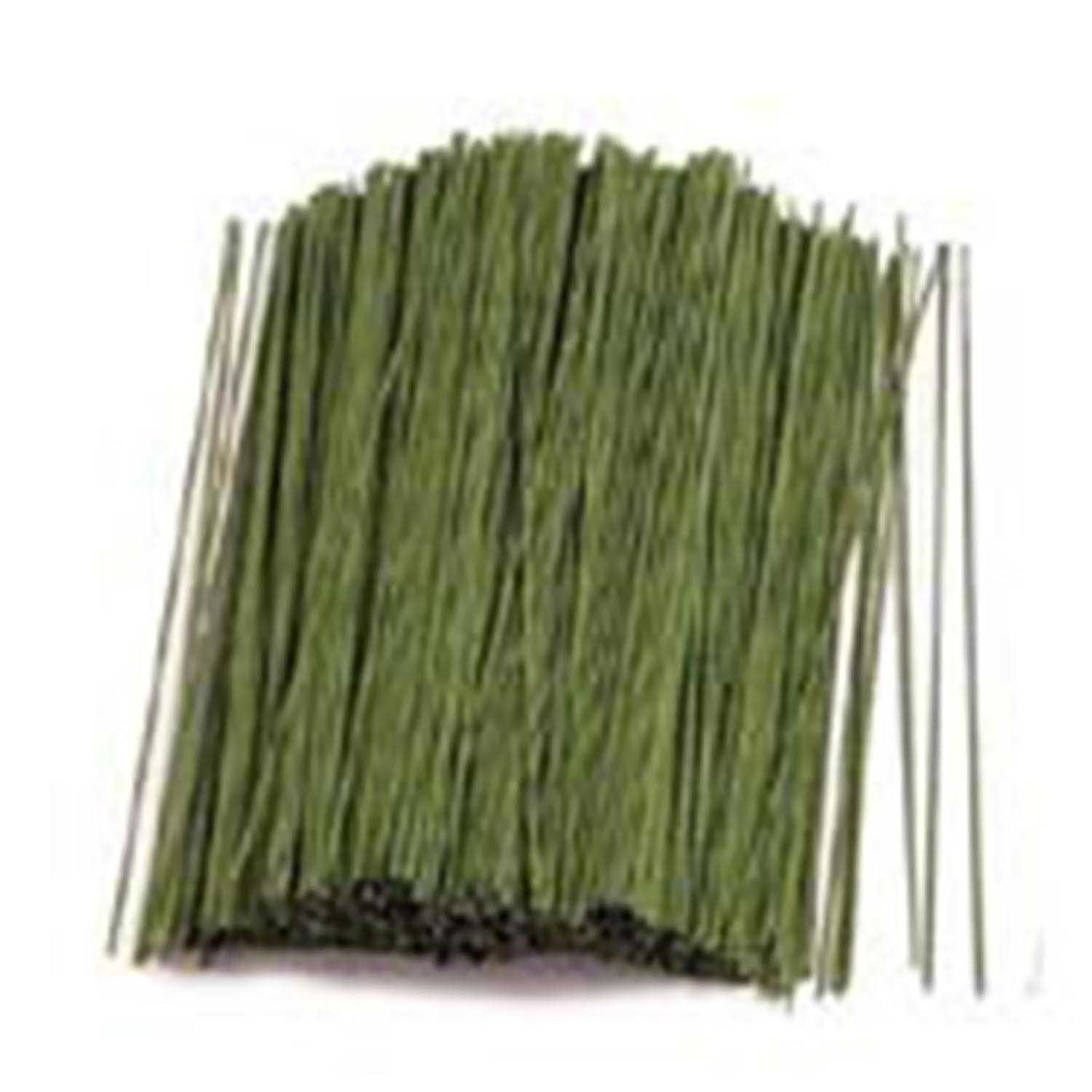 24 Gauge Green 6in Covered Wire