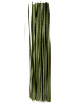 "30 Gauge Green 12"" Covered Wire"