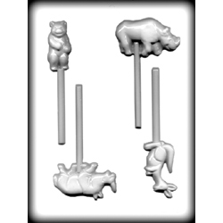 Hard Candy/Cookie Mold-Zoo Animals Sucker I