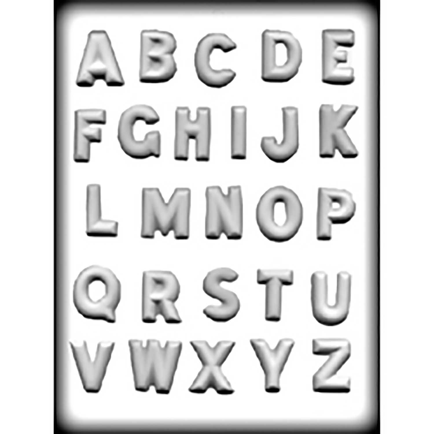 Hard Candy/Cookie Mold- Alphabet
