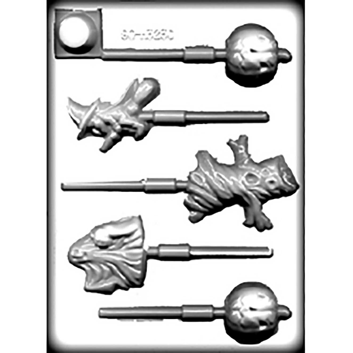 Hard Candy/Cookie Mold-Halloween Assortment Sucker