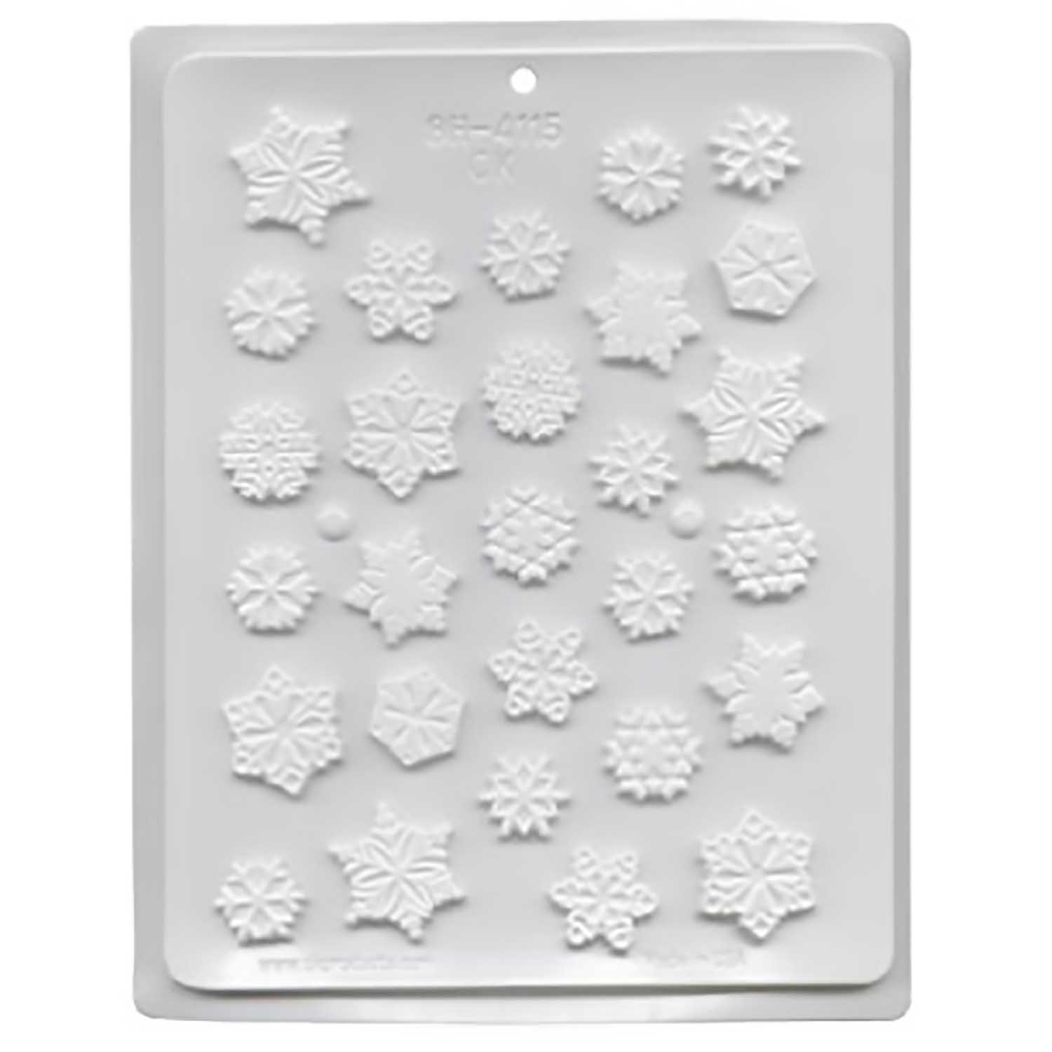 Hard Candy Mold - Snowflakes