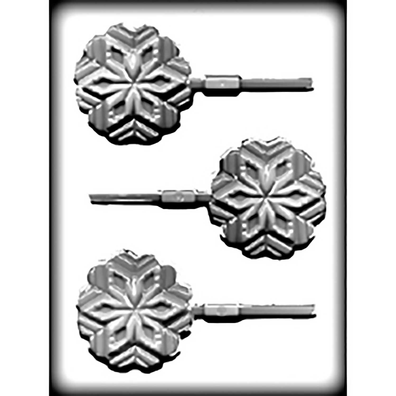 Hard Candy/Cookie Mold-Snowflake Sucker