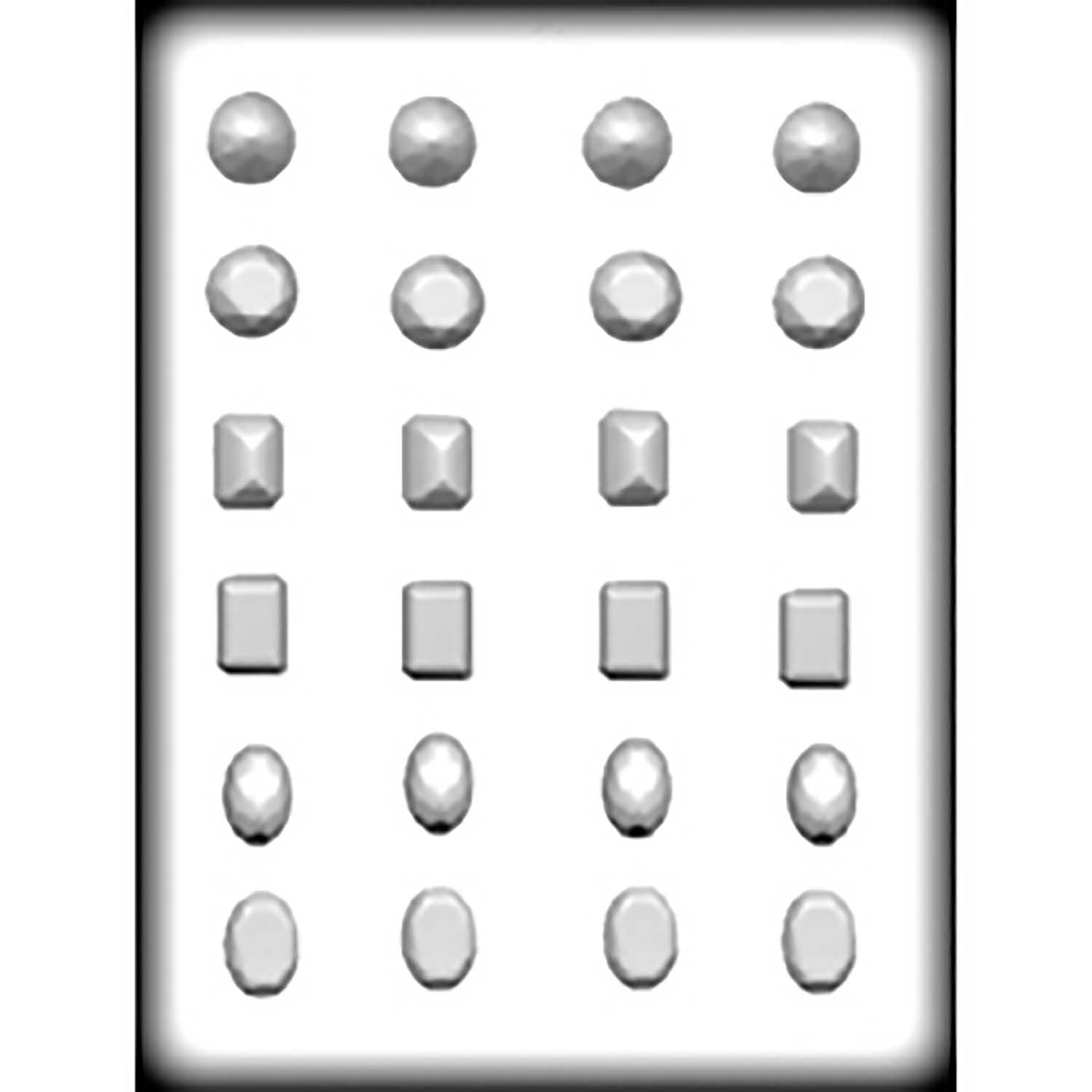 Hard Candy/Cookie Mold - Jewels