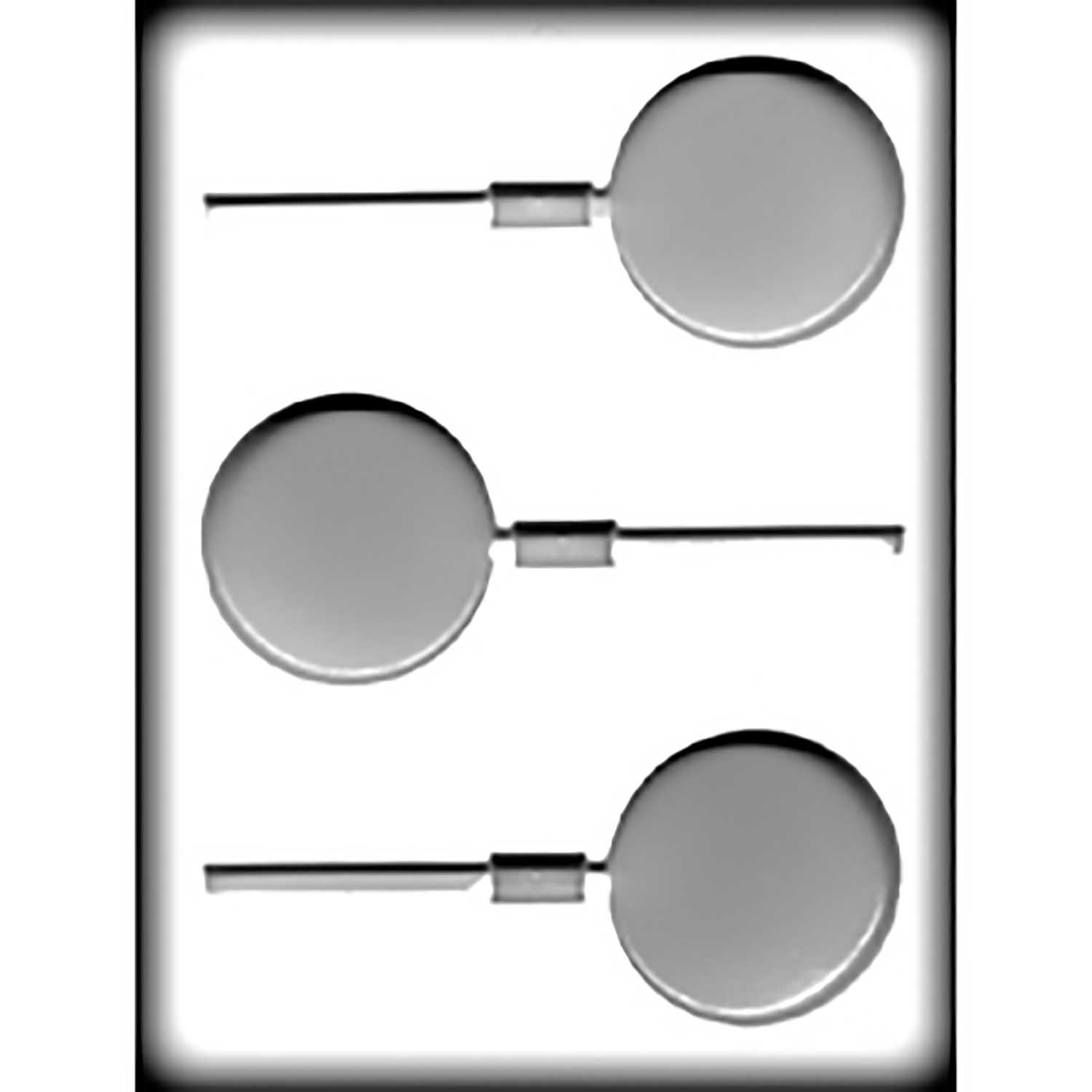 Hard Candy/Cookie Mold - 2½ Round Sucker