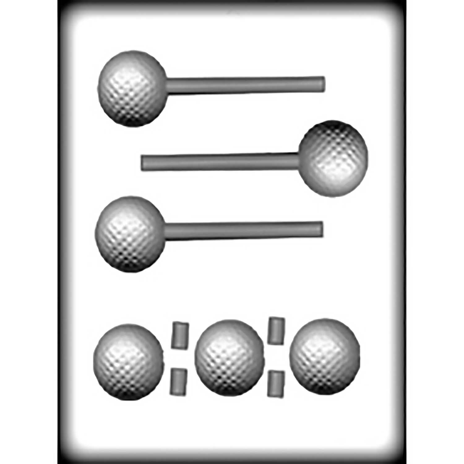 Hard Candy/Cookie Mold 3D Golf Ball Sucker