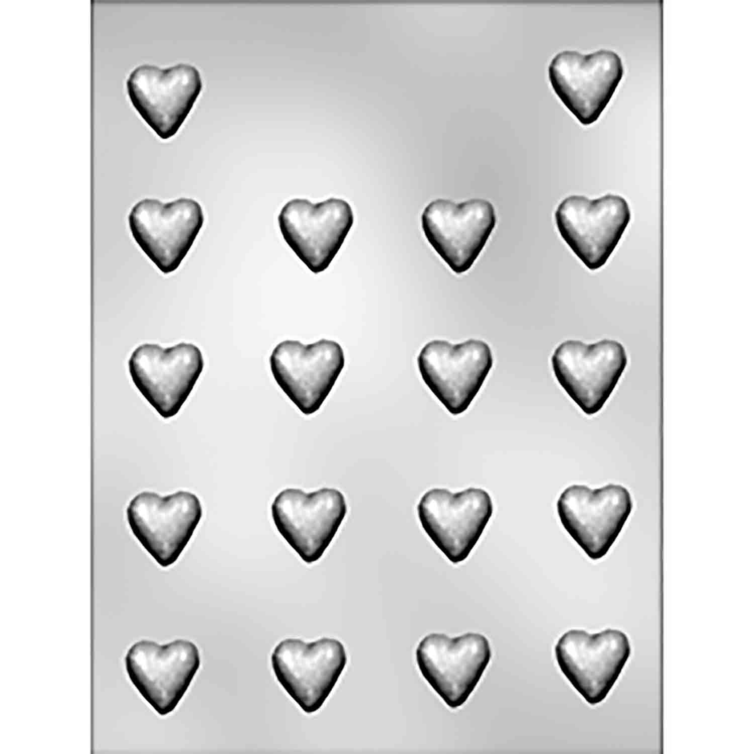 Plain Mini Hearts Chocolate Candy Mold