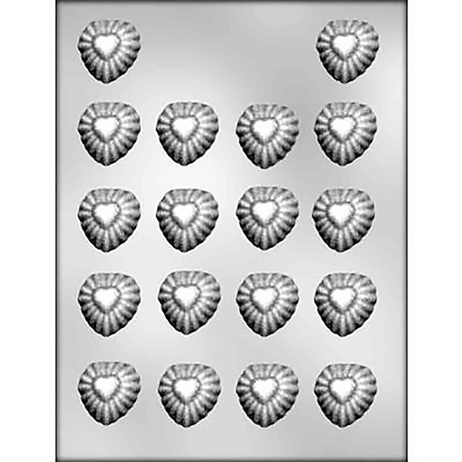 Sunburst Hearts Chocolate Candy Mold