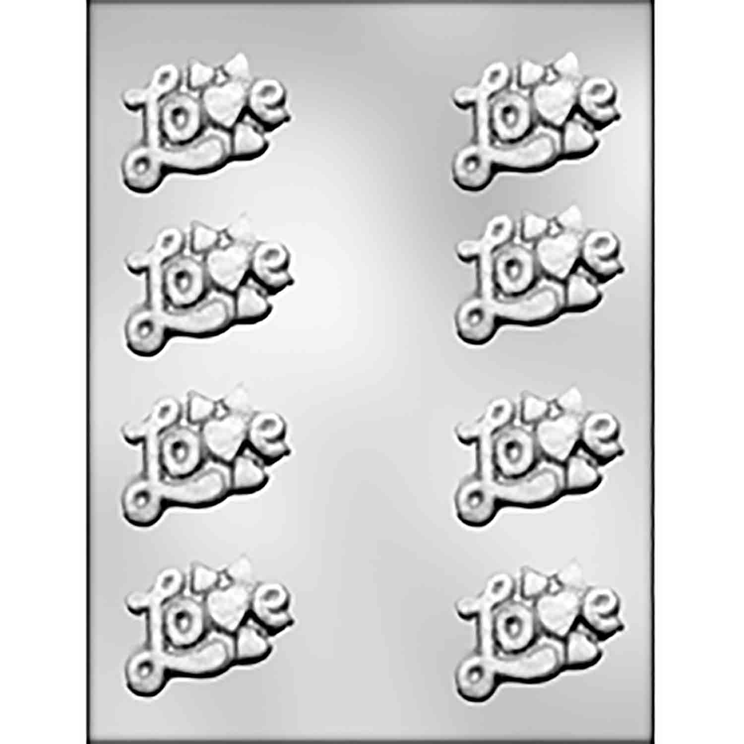 L-O-V-E with Small Hearts Chocolate Candy Mold
